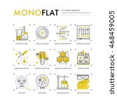 infographics icons collection... | Shutterstock .eps vector #468459005