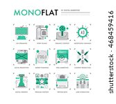 infographics icons collection... | Shutterstock .eps vector #468459416