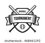 baseball vector logo. summer... | Shutterstock .eps vector #468461192