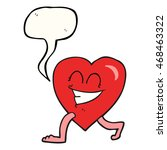 freehand drawn speech bubble... | Shutterstock . vector #468463322