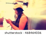 blurred people in cafe... | Shutterstock . vector #468464036