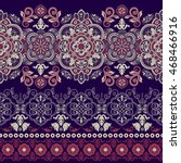 floral seamless pattern. ethnic ... | Shutterstock .eps vector #468466916