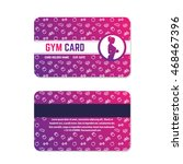 fitness club  gym card design ... | Shutterstock .eps vector #468467396