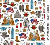 vector seamless pattern on the... | Shutterstock .eps vector #468468086