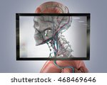 augmented reality showing human ... | Shutterstock . vector #468469646