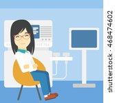 an asian female ultrasound... | Shutterstock .eps vector #468474602