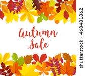 autumn sale. fall sale design.... | Shutterstock .eps vector #468481862