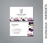 vector visit card template plum ... | Shutterstock .eps vector #468482876