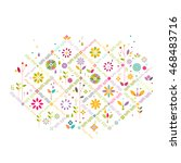 colorful flower symbol and...   Shutterstock .eps vector #468483716