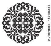 vector vintage pattern in... | Shutterstock .eps vector #468486656