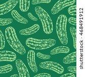 seamless cucumber pattern.... | Shutterstock .eps vector #468491912