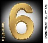 vector 3d golden number... | Shutterstock .eps vector #468494528