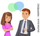 man and women talking. meeting... | Shutterstock .eps vector #468498062