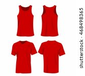 red sport top and t shirt... | Shutterstock .eps vector #468498365