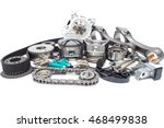 group automobile engine parts...   Shutterstock . vector #468499838