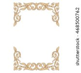vintage baroque scroll ornament ... | Shutterstock .eps vector #468500762