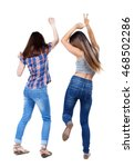 back view of two dancing young... | Shutterstock . vector #468502286