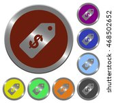 set of color glossy coin like... | Shutterstock .eps vector #468502652