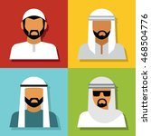 middle eastern people avatar... | Shutterstock .eps vector #468504776