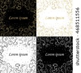 vector elegant set with... | Shutterstock .eps vector #468511556