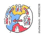international migration emblem. ... | Shutterstock .eps vector #468528158
