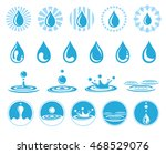 set of water icons with nature... | Shutterstock .eps vector #468529076