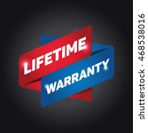 lifetime warranty arrow tag... | Shutterstock .eps vector #468538016
