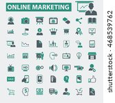 online marketing icons | Shutterstock .eps vector #468539762