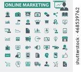 online marketing icons   Shutterstock .eps vector #468539762