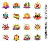 birthday badge banner design... | Shutterstock .eps vector #468540452