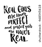 real girls are never perfect ...   Shutterstock .eps vector #468545618