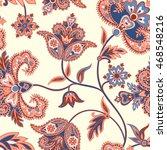 floral  pattern. flourish retro ... | Shutterstock .eps vector #468548216