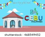 popular tourist spot magellan's ... | Shutterstock .eps vector #468549452