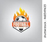 soccer logo emblem design... | Shutterstock .eps vector #468549635