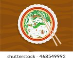 pho is the national dish of... | Shutterstock .eps vector #468549992