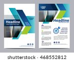blue brochure layout design... | Shutterstock .eps vector #468552812