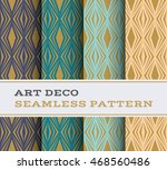 art deco seamless pattern with... | Shutterstock .eps vector #468560486