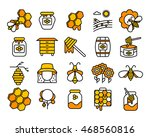 honey and beekeeping  isolated... | Shutterstock .eps vector #468560816