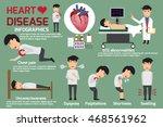 infographics. symptoms of heart ... | Shutterstock .eps vector #468561962