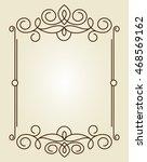 decorative frames .vintage... | Shutterstock .eps vector #468569162