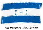 honduras national flag created... | Shutterstock .eps vector #46857559