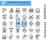 astronautics and space   thin... | Shutterstock .eps vector #468580316
