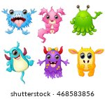 halloween monster set collection | Shutterstock .eps vector #468583856