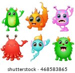 halloween monster set collection | Shutterstock . vector #468583865