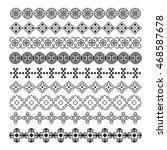 pixel ornament pattern brush ... | Shutterstock .eps vector #468587678