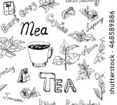 Seamless Pattern With Tea ...