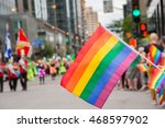 Gay Rainbow Flags At Montreal...