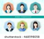 business office people avatar... | Shutterstock .eps vector #468598058