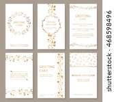 vector set of six templates... | Shutterstock .eps vector #468598496