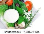 mozzarella cheese and tomatoes... | Shutterstock . vector #468607436